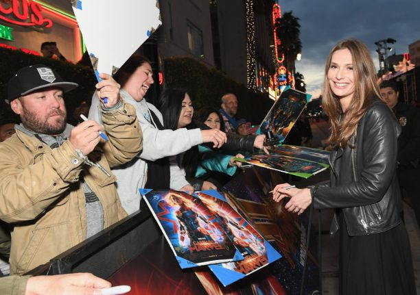 "HOLLYWOOD, CA - MARCH 04: Writer Geneva Robertson-Dworet (R) attends the Los Angeles World Premiere of Marvel Studios' ""Captain Marvel"" at Dolby Theatre on March 4, 2019 in Hollywood, California. (Photo by Charley Gallay/Getty Images for Disney) *** Local Caption *** Geneva Robertson-Dworet"