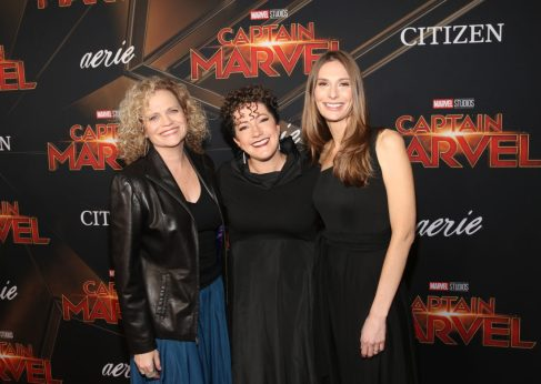 "HOLLYWOOD, CA - MARCH 04: (L-R) Writers Meg LeFauve, Nicole Perlman, and Geneva Robertson-Dworet attend the Los Angeles World Premiere of Marvel Studios' ""Captain Marvel"" at Dolby Theatre on March 4, 2019 in Hollywood, California. (Photo by Jesse Grant/Getty Images for Disney) *** Local Caption *** Nicole Perlman; Geneva Robertson-Dworet"
