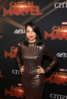 """HOLLYWOOD, CA - MARCH 04: Actor Kathreen Khavari attends the Los Angeles World Premiere of Marvel Studios' """"Captain Marvel"""" at Dolby Theatre on March 4, 2019 in Hollywood, California. (Photo by Jesse Grant/Getty Images for Disney) *** Local Caption *** Kathreen Khavari"""