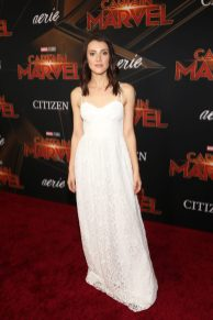 """HOLLYWOOD, CA - MARCH 04: Actor Emma Lahana attends the Los Angeles World Premiere of Marvel Studios' """"Captain Marvel"""" at Dolby Theatre on March 4, 2019 in Hollywood, California. (Photo by Jesse Grant/Getty Images for Disney) *** Local Caption *** Emma Lahana"""