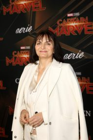 """HOLLYWOOD, CA - MARCH 04: Costume designer Sanja Milkovic Hays attends the Los Angeles World Premiere of Marvel Studios' """"Captain Marvel"""" at Dolby Theatre on March 4, 2019 in Hollywood, California. (Photo by Jesse Grant/Getty Images for Disney) *** Local Caption *** Sanja Milkovic Hays"""