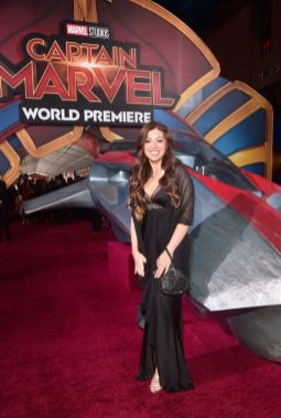 """HOLLYWOOD, CA - MARCH 04: Composer Pinar Toprak attends the Los Angeles World Premiere of Marvel Studios' """"Captain Marvel"""" at Dolby Theatre on March 4, 2019 in Hollywood, California. (Photo by Alberto E. Rodriguez/Getty Images for Disney) *** Local Caption *** Pinar Toprak"""