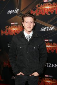 """HOLLYWOOD, CA - MARCH 04: Luke Mullen attends the Los Angeles World Premiere of Marvel Studios' """"Captain Marvel"""" at Dolby Theatre on March 4, 2019 in Hollywood, California. (Photo by Jesse Grant/Getty Images for Disney) *** Local Caption *** Luke Mullen"""
