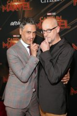 "HOLLYWOOD, CA - MARCH 04: (L-R) Directors Taika Waititi and Peyton Reed attend the Los Angeles World Premiere of Marvel Studios' ""Captain Marvel"" at Dolby Theatre on March 4, 2019 in Hollywood, California. (Photo by Jesse Grant/Getty Images for Disney) *** Local Caption *** Peyton Reed; Taika Waititi"