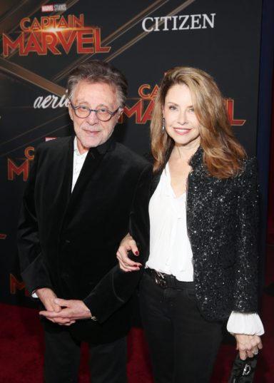 "HOLLYWOOD, CA - MARCH 04: (L-R) Frankie Valli and Jacqueline Jacobs attend the Los Angeles World Premiere of Marvel Studios' ""Captain Marvel"" at Dolby Theatre on March 4, 2019 in Hollywood, California. (Photo by Jesse Grant/Getty Images for Disney) *** Local Caption *** Jacqueline Jacobs; Frankie Valli"