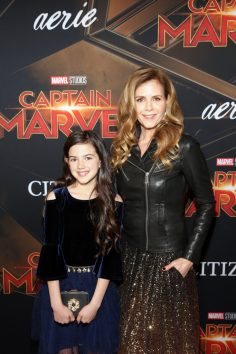 "HOLLYWOOD, CA - MARCH 04: (L-R) Actors Abby Ryder Fortson and Christie Lynn Smith attend the Los Angeles World Premiere of Marvel Studios' ""Captain Marvel"" at Dolby Theatre on March 4, 2019 in Hollywood, California. (Photo by Jesse Grant/Getty Images for Disney) *** Local Caption *** Christie Lynn Smith; Abby Ryder Fortson"