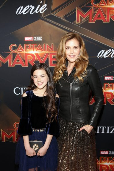 """HOLLYWOOD, CA - MARCH 04: (L-R) Actors Abby Ryder Fortson and Christie Lynn Smith attend the Los Angeles World Premiere of Marvel Studios' """"Captain Marvel"""" at Dolby Theatre on March 4, 2019 in Hollywood, California. (Photo by Jesse Grant/Getty Images for Disney) *** Local Caption *** Christie Lynn Smith; Abby Ryder Fortson"""