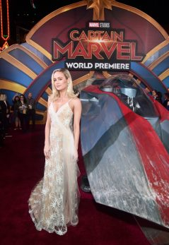"HOLLYWOOD, CA - MARCH 04: Actor Brie Larson attends the Los Angeles World Premiere of Marvel Studios' ""Captain Marvel"" at Dolby Theatre on March 4, 2019 in Hollywood, California. (Photo by Alberto E. Rodriguez/Getty Images for Disney) *** Local Caption *** Brie Larson"