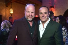 """HOLLYWOOD, CA - MARCH 04: (L-R) Writer Joss Whedon and actor Clark Gregg attends the Los Angeles World Premiere of Marvel Studios' """"Captain Marvel"""" at Dolby Theatre on March 4, 2019 in Hollywood, California. (Photo by Alberto E. Rodriguez/Getty Images for Disney) *** Local Caption *** Clark Gregg; Joss Whedon"""