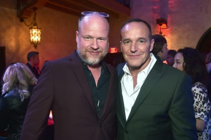 "HOLLYWOOD, CA - MARCH 04: (L-R) Writer Joss Whedon and actor Clark Gregg attends the Los Angeles World Premiere of Marvel Studios' ""Captain Marvel"" at Dolby Theatre on March 4, 2019 in Hollywood, California. (Photo by Alberto E. Rodriguez/Getty Images for Disney) *** Local Caption *** Clark Gregg; Joss Whedon"