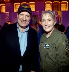 "HOLLYWOOD, CA - MARCH 04: President of Marvel Studios and producer Kevin Feige and Brigadier General Jeannie M. Leavitt attend the Los Angeles World Premiere of Marvel Studios' ""Captain Marvel"" at Dolby Theatre on March 4, 2019 in Hollywood, California. (Photo by Alberto E. Rodriguez/Getty Images for Disney) *** Local Caption *** Jeannie Leavitt; Kevin Feige"