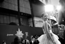 """HOLLYWOOD, CA - MARCH 04: (EDITORS NOTE: Image has been shot in black and white. No color version available) Actor Mckenna Grace attends the Los Angeles World Premiere of Marvel Studios' """"Captain Marvel"""" at Dolby Theatre on March 4, 2019 in Hollywood, California. (Photo by Charley Gallay/Getty Images for Disney) *** Local Caption *** Mckenna Grace"""