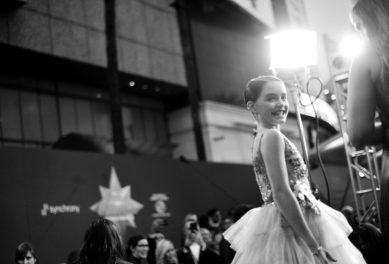 "HOLLYWOOD, CA - MARCH 04: (EDITORS NOTE: Image has been shot in black and white. No color version available) Actor Mckenna Grace attends the Los Angeles World Premiere of Marvel Studios' ""Captain Marvel"" at Dolby Theatre on March 4, 2019 in Hollywood, California. (Photo by Charley Gallay/Getty Images for Disney) *** Local Caption *** Mckenna Grace"