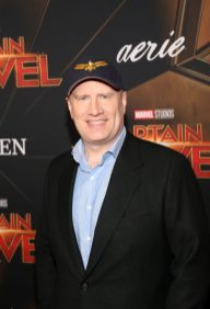 "HOLLYWOOD, CA - MARCH 04: President of Marvel Studios/Producer Kevin Feige attends the Los Angeles World Premiere of Marvel Studios' ""Captain Marvel"" at Dolby Theatre on March 4, 2019 in Hollywood, California. (Photo by Jesse Grant/Getty Images for Disney) *** Local Caption *** Kevin Feige"
