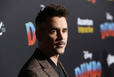 """LOS ANGELES, CA - MARCH 11: Actor Colin Farrell attends the World Premiere of Disney's """"Dumbo"""" at the El Capitan Theatre on March 11, 2019 in Los Angeles, California. (Photo by Jesse Grant/Getty Images for Disney) *** Local Caption *** Colin Farrell"""