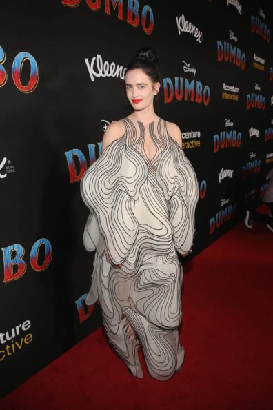 """LOS ANGELES, CA - MARCH 11: Actor Eva Green attends the World Premiere of Disney's """"Dumbo"""" at the El Capitan Theatre on March 11, 2019 in Los Angeles, California. (Photo by Jesse Grant/Getty Images for Disney) *** Local Caption *** Eva Green"""