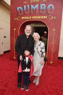 """LOS ANGELES, CA - MARCH 11: (L-R) Taylor Hackford, Waylon Hackford and Helen Mirren attend the World Premiere of Disney's """"Dumbo"""" at the El Capitan Theatre on March 11, 2019 in Los Angeles, California. (Photo by Alberto E. Rodriguez/Getty Images for Disney) *** Local Caption *** Taylor Hackford; Waylon Hackford; Helen Mirren"""