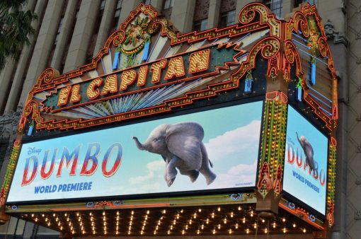 "LOS ANGELES, CA - MARCH 11: A view of the atmosphere during the World Premiere of Disney's ""Dumbo"" at the El Capitan Theatre on March 11, 2019 in Los Angeles, California. (Photo by Charley Gallay/Getty Images for Disney)"