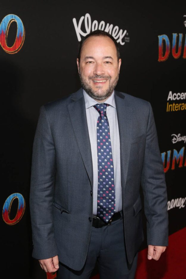 """LOS ANGELES, CA - MARCH 11: Producer Derek Frey attends the World Premiere of Disney's """"Dumbo"""" at the El Capitan Theatre on March 11, 2019 in Los Angeles, California. (Photo by Jesse Grant/Getty Images for Disney) *** Local Caption *** Derek Frey"""