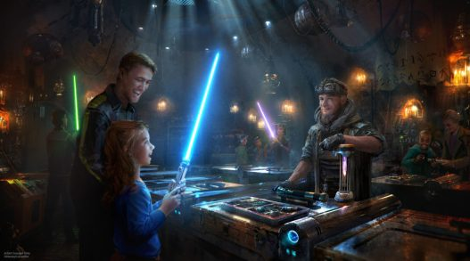 Exotic finds can be found throughout Star Wars: Galaxy's Edge when it opens May 31, 2019, at Disneyland Park in Anaheim, California, and Aug. 29, 2019, at Disney's Hollywood Studios in Lake Buena Vista, Florida. At Savi's Workshop - Handbuilt Lightsabers, guests will have the opportunity to customize and craft their own lightsabers. In this exclusive experience, guests will feel like a Jedi as they build these elegant weapons from a more civilized age. (Disney Parks)