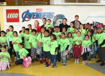 ANAHEIM, CA - APRIL 05: (L-R) Scarlett Johansson, Paul Rudd, Jeremy Renner and Chris Hemsworth and guests attend Avengers Universe Unites, a charity event to celebrate the donation of more than $5 million in cash and toys to nonprofits supporting children with critical illnesses, at Disney California Adventure Park on April 5, 2019 in Anaheim, California. (Photo by Joe Scarnici/Getty Images for Disney) *** Local Caption *** Chris HemsworthScarlett Johansson; Paul Rudd; Jeremy Renner