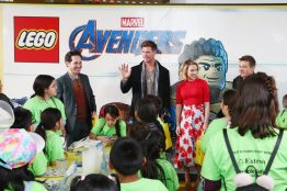 ANAHEIM, CA - APRIL 05: (L-R) Paul Rudd, Chris Hemsworth, Scarlett Johansson and Jeremy Renner attend Avengers Universe Unites, a charity event to celebrate the donation of more than $5 million in cash and toys to nonprofits supporting children with critical illnesses, at Disney California Adventure Park on April 5, 2019 in Anaheim, California. (Photo by Joe Scarnici/Getty Images for Disney) *** Local Caption *** Jeremy Renner; Paul Rudd; Chris Hemsworth; Scarlett Johansson