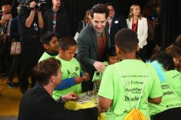 ANAHEIM, CA - APRIL 05: Paul Rudd and guests attend Avengers Universe Unites, a charity event to celebrate the donation of more than $5 million in cash and toys to nonprofits supporting children with critical illnesses, at Disney California Adventure Park on April 5, 2019 in Anaheim, California. (Photo by Joe Scarnici/Getty Images for Disney) *** Local Caption *** Paul Rudd