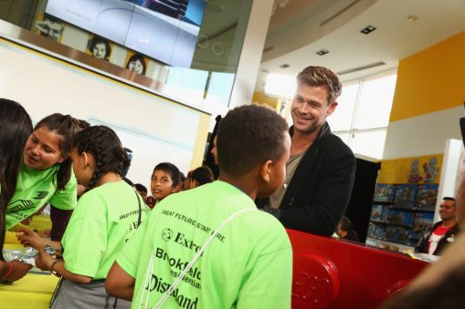 ANAHEIM, CA - APRIL 05: Chris Hemsworth and guests attend Avengers Universe Unites, a charity event to celebrate the donation of more than $5 million in cash and toys to nonprofits supporting children with critical illnesses, at Disney California Adventure Park on April 5, 2019 in Anaheim, California. (Photo by Joe Scarnici/Getty Images for Disney) *** Local Caption *** Chris Hemsworth