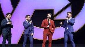 Chris Evans, Chris Hemsworth, Jeremy Renner, Paul Rudd Onstage at the Avengers Endgame China Fan Even