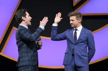 Jeremy Renner and Paul Rudd Onstage at the Avengers Endgame China Fan Event