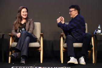 SEOUL, SOUTH KOREA - APRIL 15: Trinh Tran and Anthony Russo attend the filmmakers press conference for Marvel Studios' 'Avengers: Endgame' South Korea premiere on April 15, 2019 in Seoul, South Korea. (Photo by Chung Sung-Jun/Getty Images for Disney)