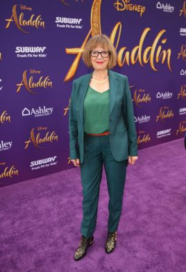 """LOS ANGELES, CA - MAY 21: Production designer Gemma Jackson attends the World Premiere of Disney's """"Aladdin"""" at the El Capitan Theater in Hollywood CA on May 21, 2019, in the culmination of the film's Magic Carpet World Tour with stops in Paris, London, Berlin, Tokyo, Mexico City and Amman, Jordan. (Photo by Jesse Grant/Getty Images for Disney) *** Local Caption *** Gemma Jackson"""