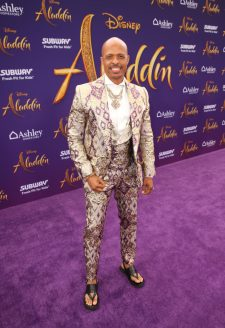 """LOS ANGELES, CA - MAY 21: Choreographer Jamal Sims attends the World Premiere of Disney's """"Aladdin"""" at the El Capitan Theater in Hollywood CA on May 21, 2019, in the culmination of the film's Magic Carpet World Tour with stops in Paris, London, Berlin, Tokyo, Mexico City and Amman, Jordan. (Photo by Jesse Grant/Getty Images for Disney) *** Local Caption *** Jamal Sims"""