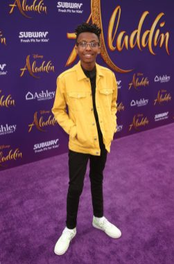 """LOS ANGELES, CA - MAY 21: Israel Johnson attends the World Premiere of Disney's """"Aladdin"""" at the El Capitan Theater in Hollywood CA on May 21, 2019, in the culmination of the film's Magic Carpet World Tour with stops in Paris, London, Berlin, Tokyo, Mexico City and Amman, Jordan. (Photo by Jesse Grant/Getty Images for Disney) *** Local Caption *** Israel Johnson"""