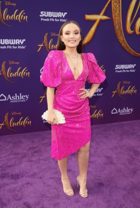 """LOS ANGELES, CA - MAY 21: Larissa Manoela attends the World Premiere of Disney's """"Aladdin"""" at the El Capitan Theater in Hollywood CA on May 21, 2019, in the culmination of the film's Magic Carpet World Tour with stops in Paris, London, Berlin, Tokyo, Mexico City and Amman, Jordan. (Photo by Jesse Grant/Getty Images for Disney) *** Local Caption *** Larissa Manoela"""