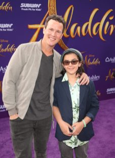 """LOS ANGELES, CA - MAY 21: Scott Weinger (L) and guest attend the World Premiere of Disney's """"Aladdin"""" at the El Capitan Theater in Hollywood CA on May 21, 2019, in the culmination of the film's Magic Carpet World Tour with stops in Paris, London, Berlin, Tokyo, Mexico City and Amman, Jordan. (Photo by Jesse Grant/Getty Images for Disney) *** Local Caption *** Scott Weinger"""