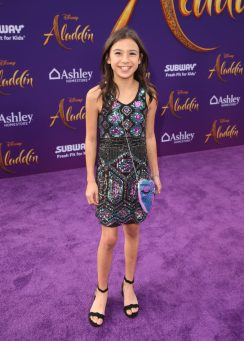 """LOS ANGELES, CA - MAY 21: Scarlett Estevez attends the World Premiere of Disney's """"Aladdin"""" at the El Capitan Theater in Hollywood CA on May 21, 2019, in the culmination of the film's Magic Carpet World Tour with stops in Paris, London, Berlin, Tokyo, Mexico City and Amman, Jordan. (Photo by Jesse Grant/Getty Images for Disney) *** Local Caption *** Scarlett Estevez"""