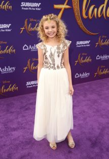 """LOS ANGELES, CA - MAY 21: Mallory James Mahoney attends the World Premiere of Disney's """"Aladdin"""" at the El Capitan Theater in Hollywood CA on May 21, 2019, in the culmination of the film's Magic Carpet World Tour with stops in Paris, London, Berlin, Tokyo, Mexico City and Amman, Jordan. (Photo by Jesse Grant/Getty Images for Disney) *** Local Caption *** Mallory James Mahoney"""