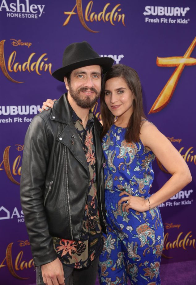 """LOS ANGELES, CA - MAY 21: Oscar Schwebel (L) and Gina Castellanos attend the World Premiere of Disney's """"Aladdin"""" at the El Capitan Theater in Hollywood CA on May 21, 2019, in the culmination of the film's Magic Carpet World Tour with stops in Paris, London, Berlin, Tokyo, Mexico City and Amman, Jordan. (Photo by Jesse Grant/Getty Images for Disney) *** Local Caption *** Oscar Schwebel; Gina Castellanos"""