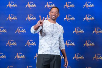 "Will Smith attends the photo call to celebrate the release of Disney's ""Aladdin"" on May 10th in London, UK"