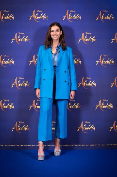 """Naomi Scott attends the photo call to celebrate the release of Disney's """"Aladdin"""" on May 10th in London, UK"""