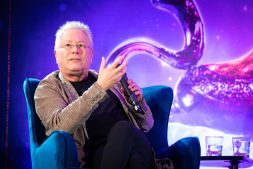 """Alan Menken attends the press conference to celebrate the release of Disney's """"Aladdin"""" on May 10th in London, UK"""
