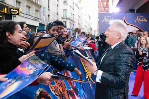 "PARIS, FRANCE – May 08: Alan Menken attends the ""Aladdin"" Paris Gala Screening at Cinema Le Grand Rex on May 08, 2019 in Paris, France."