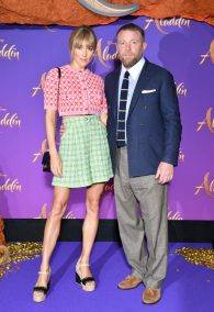 """PARIS, FRANCE - MAY 08: Jacqui Ainsley and Guy Ritchie attend the """"Aladdin"""" gala screening at Le Grand Rex on May 08, 2019 in Paris, France. (Photo by Pascal Le Segretain/Getty Images For Disney)"""