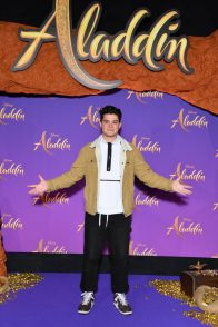 """PARIS, FRANCE - MAY 08: Hugo Chalan attends the """"Aladdin"""" gala screening at Le Grand Rex on May 08, 2019 in Paris, France. (Photo by Pascal Le Segretain/Getty Images For Disney)"""