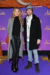 """PARIS, FRANCE - MAY 08: Elodie Fontan and Philippe Lacheau attend the """"Aladdin"""" gala screening at Le Grand Rex on May 08, 2019 in Paris, France. (Photo by Pascal Le Segretain/Getty Images For Disney)"""