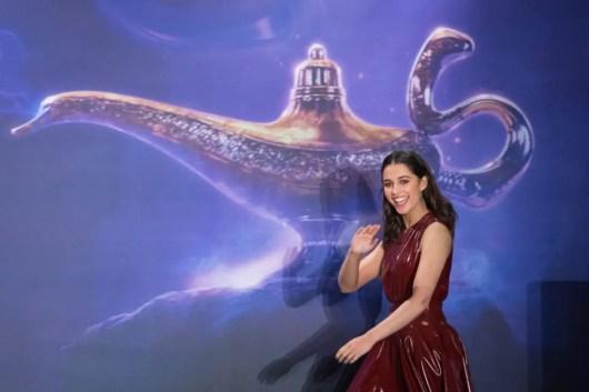 "Naomi Scott attends the ""Aladdin"" press conference on May 11, 2019 in Berlin, Germany. .© Disney/Folioscope/Hanna Boussouar"