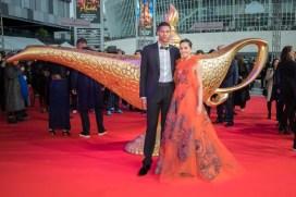 "Naomi Scott and Jordan Spence attend the ""Aladdin"" gala screening on May 11, 2019 in Berlin, Germany. .© Disney/Folioscope/Hanna Boussouar"