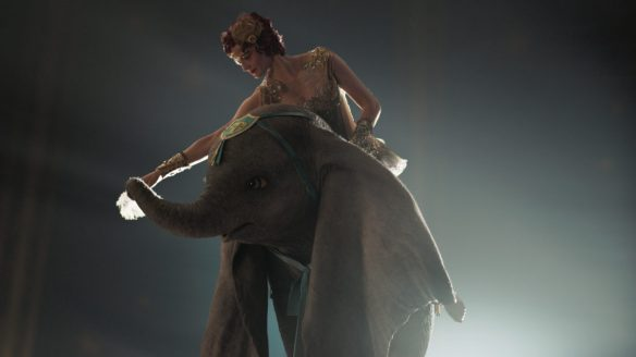 "PARTNERS -- In Disney's live-action reimagining of ""Dumbo,"" accomplished aerialist Colette Marchant is paired with a flying elephant named Dumbo in a new act at a state-of-the-art amusement park called Dreamland. Starring Eva Green as Colette, ""Dumbo"" opens in U.S. theaters on March 29, 2019...© 2019 Disney Enterprises, Inc. All Rights Reserved.."
