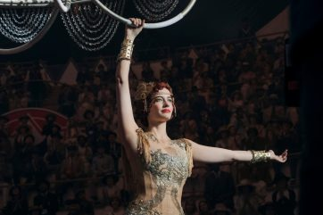 """HIGH-FLYING STAR – Eva Green stars as Colette Marchant, a French-born aerialist and high-flying star at a state-of-the-art amusement park called Dreamland. Directed by Tim Burton, Disney's all-new, live-action adventure """"Dumbo"""" opens in U.S. theaters on March 29, 2019...© 2019 Disney Enterprises, Inc. All Rights Reserved.."""